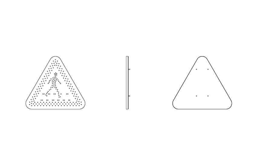 Warning triangle sas signs