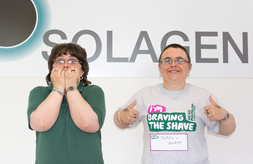 Employee Braves the Shave for Charity